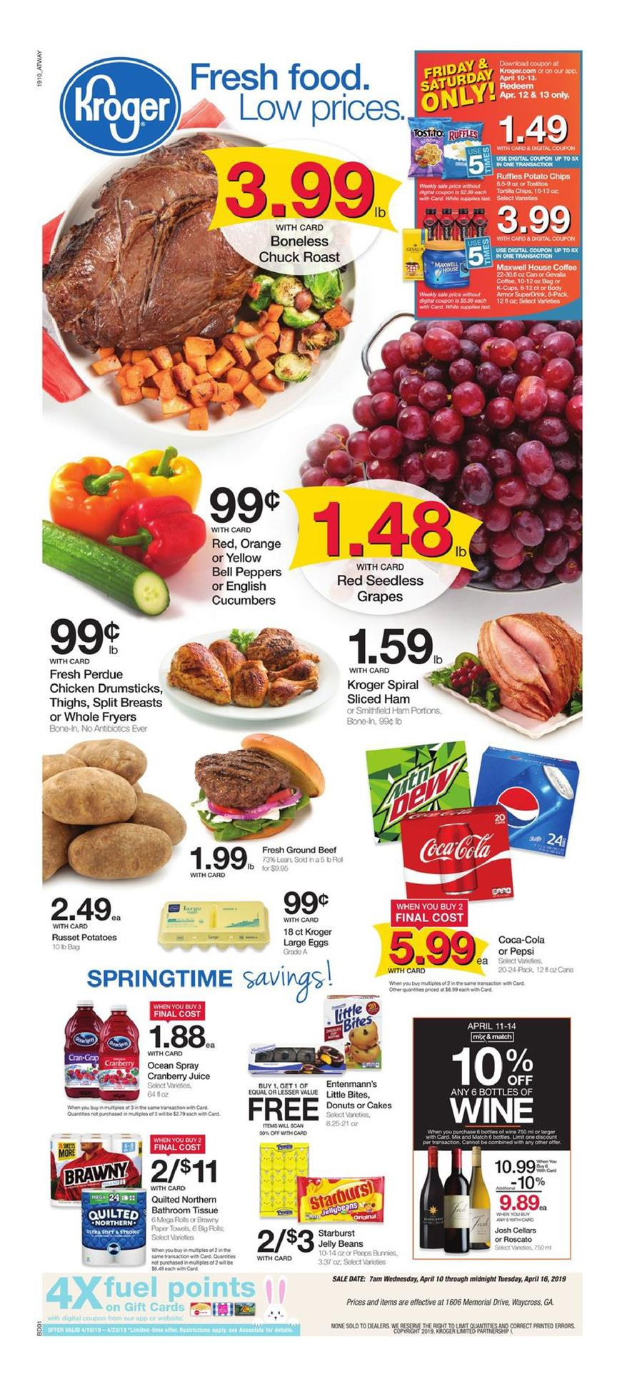 kroger weekly ad apr 10 2019
