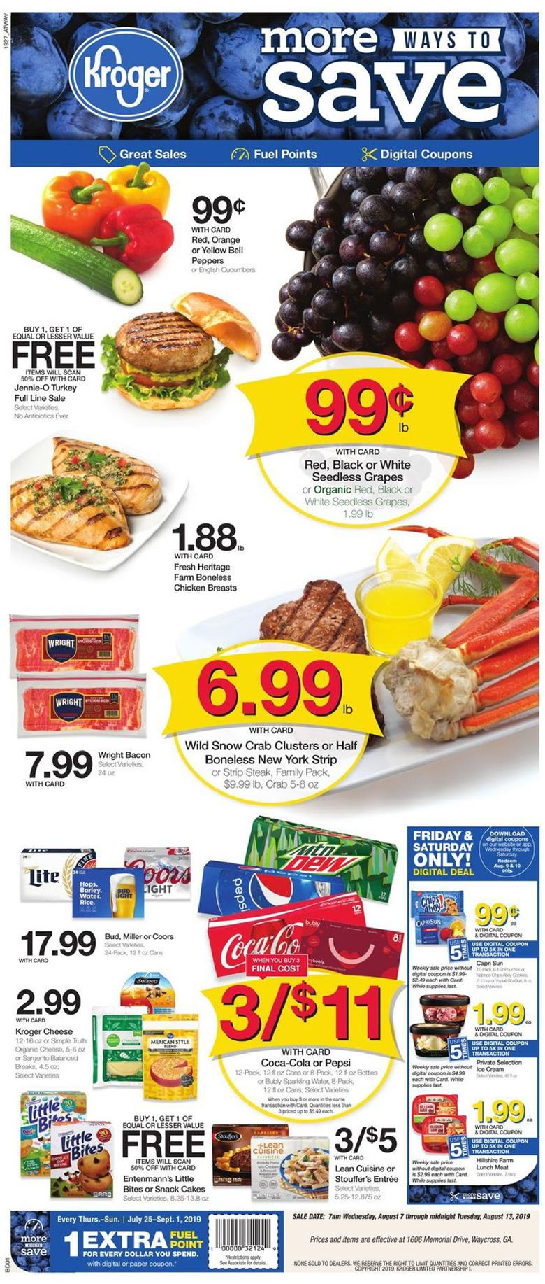 Kroger Weekly Ad Aug 7 - 13, 2019