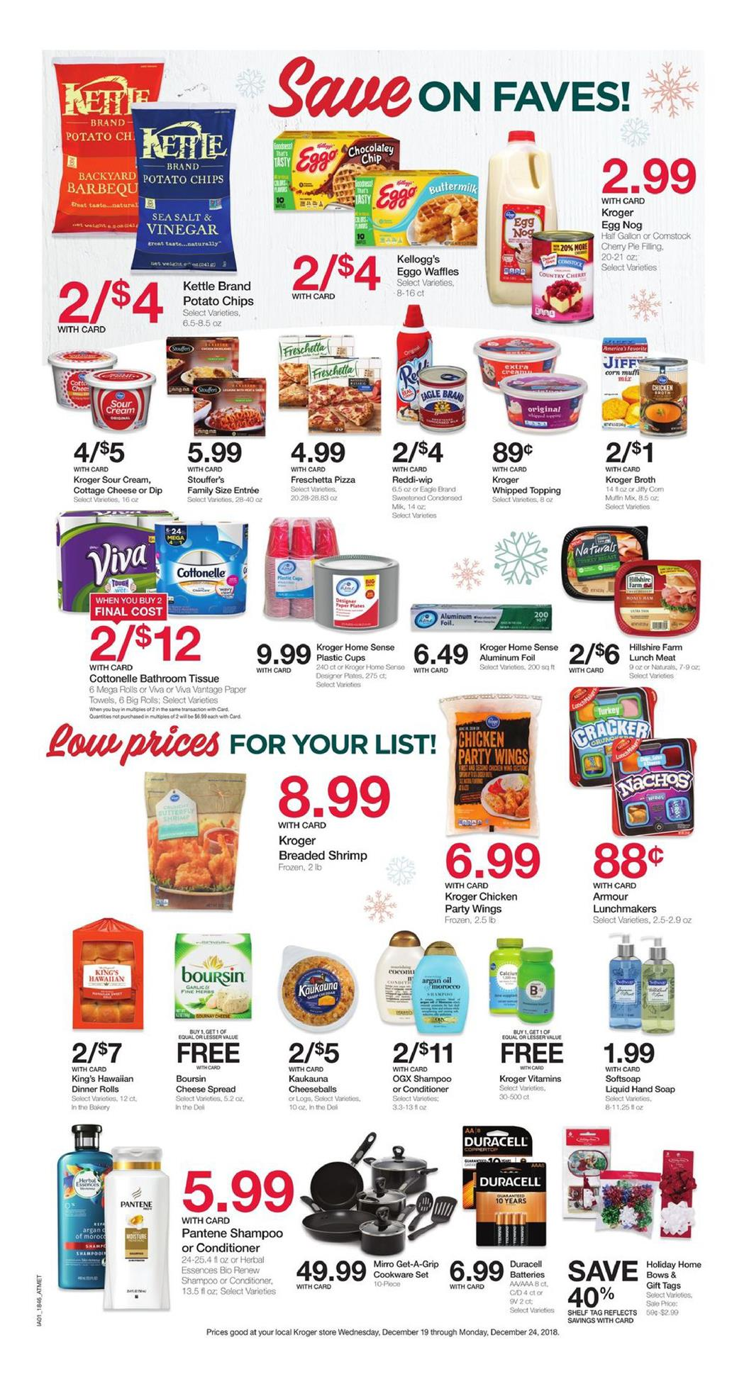 kroger weekly ad dec 19 2018