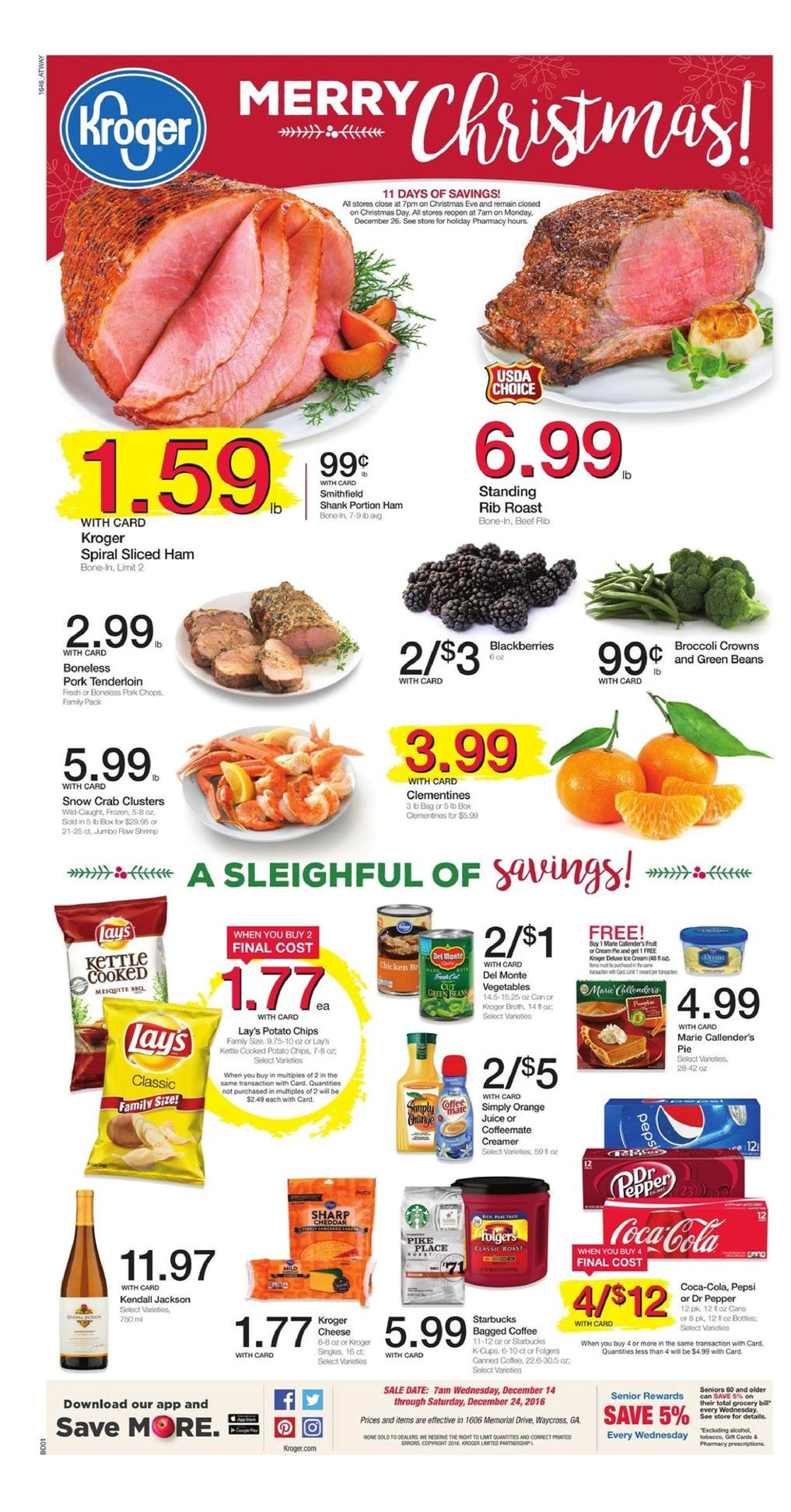Kroger Weekly Ad December 14 - 24 2016