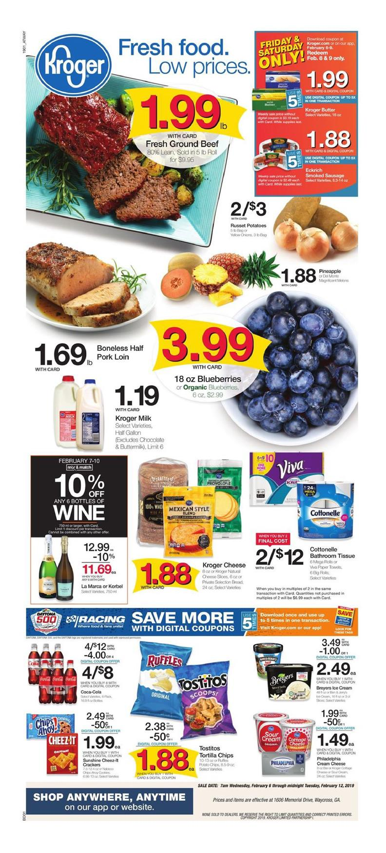 kroger weekly ad feb 6 2019