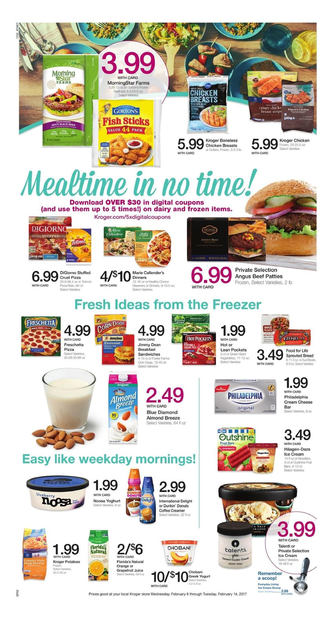 kroger weekly ad february 8 2017