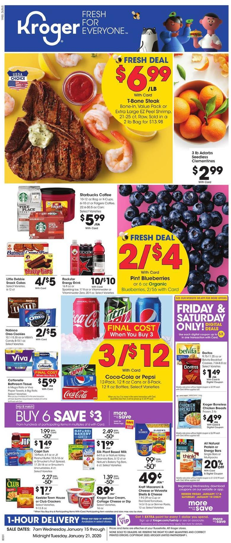 kroger weekly ad jan 15 2020