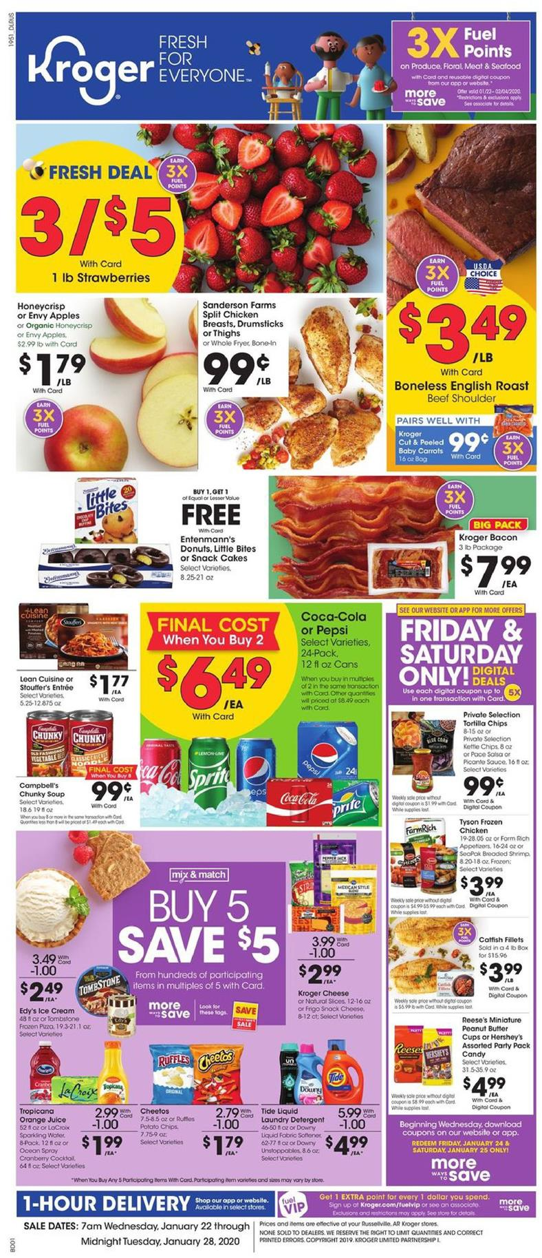 kroger weekly ad jan 22 2020
