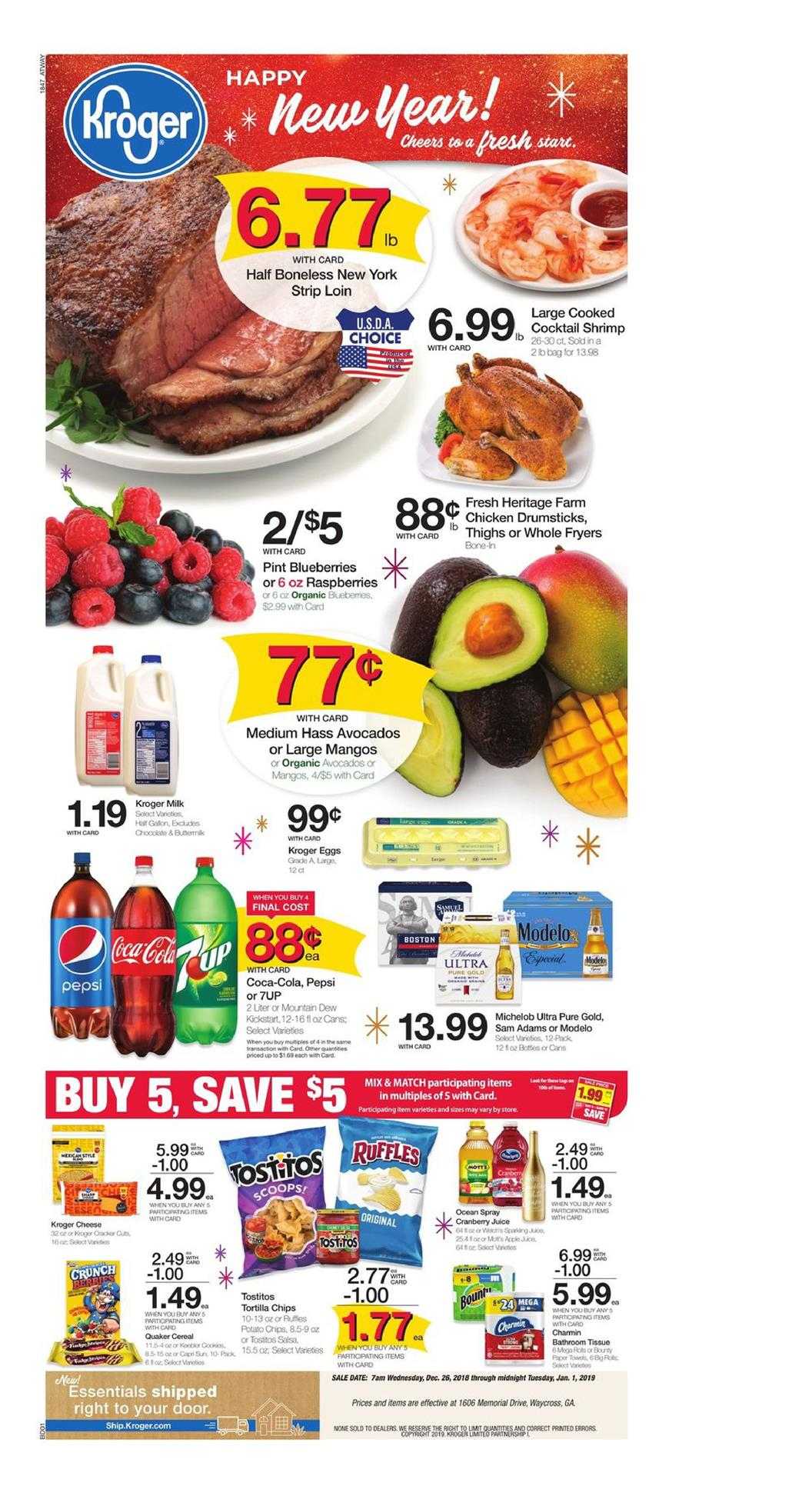 kroger weekly ad jan 26 2018