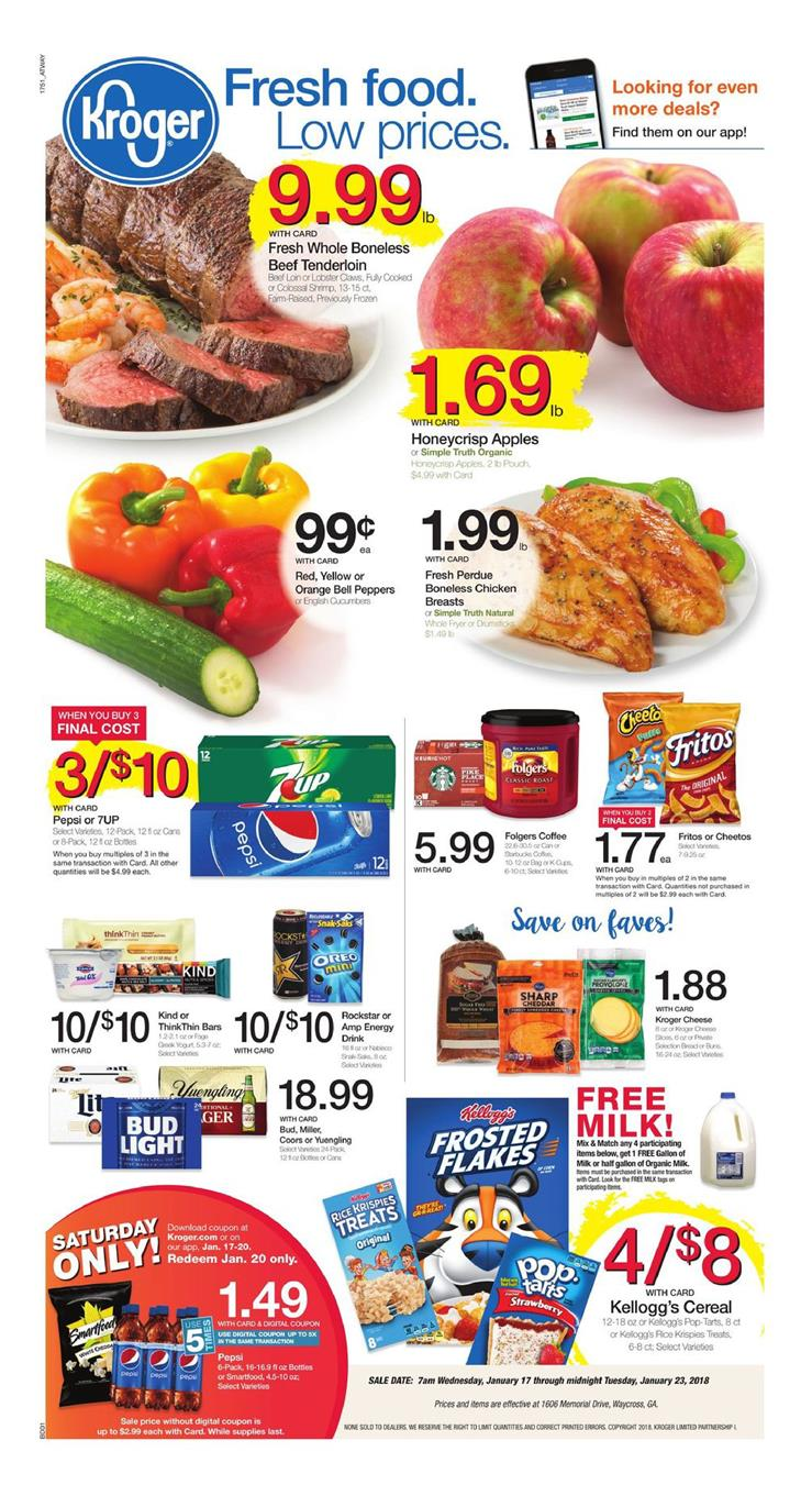 Kroger Weekly Ad January 17 - 23, 2018
