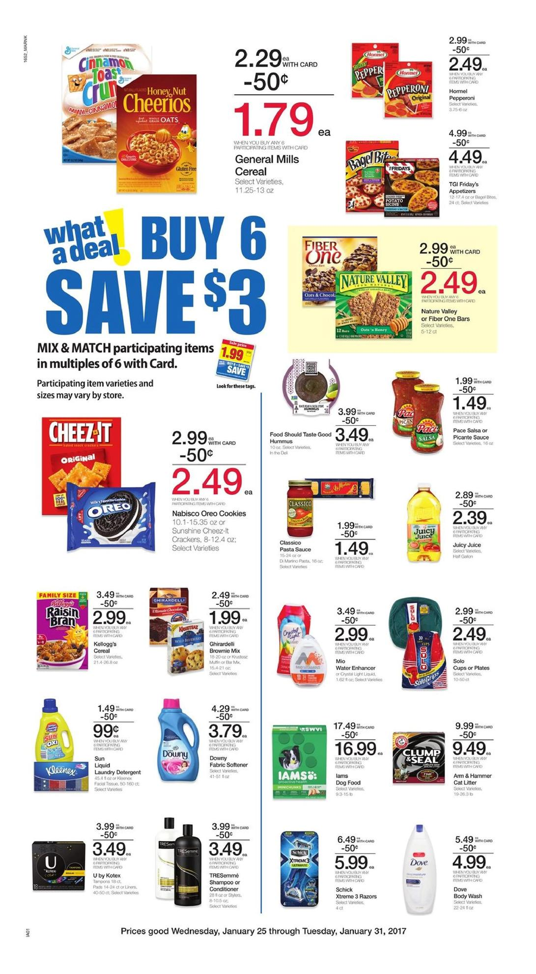 kroger weekly ad january 25 2017