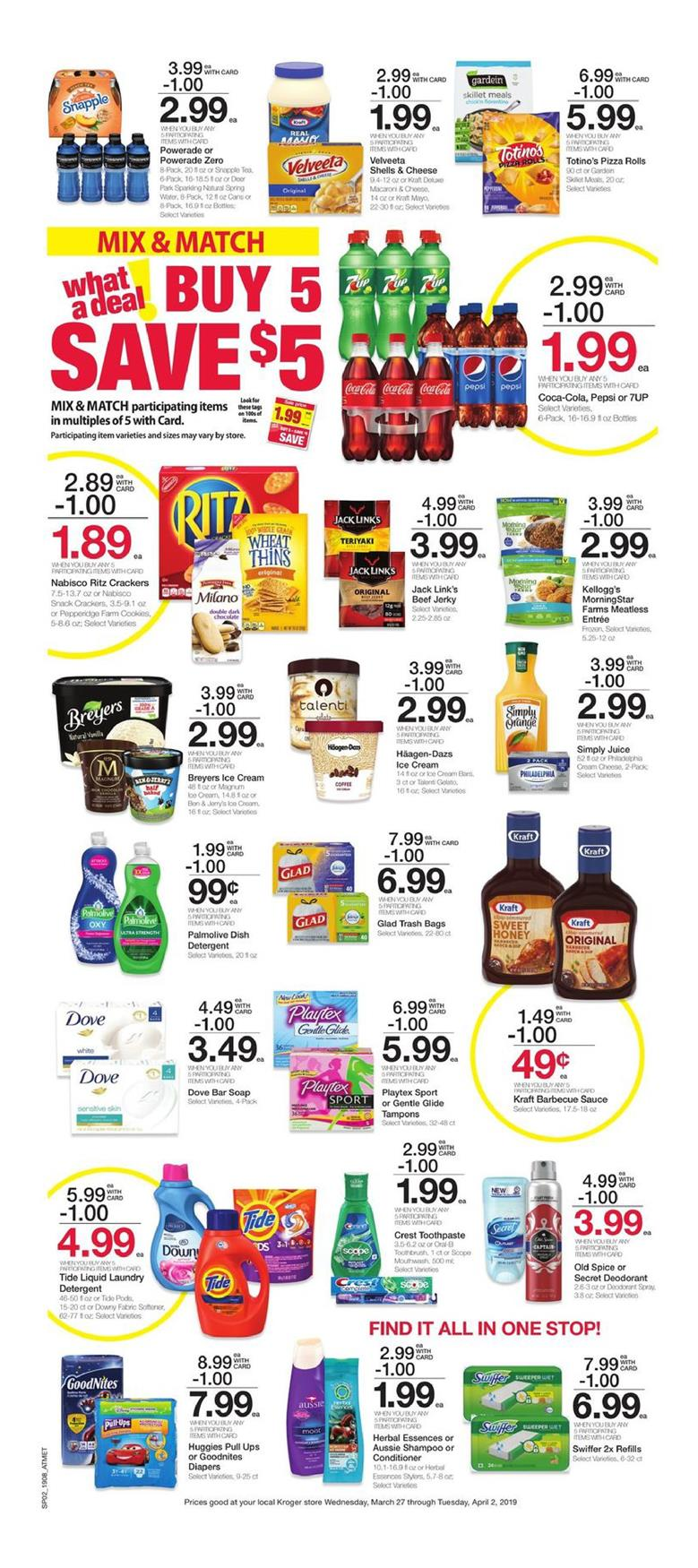 kroger weekly ad mar 27 2019