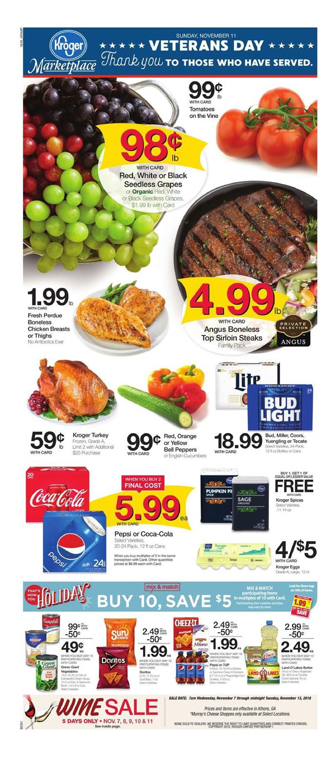 kroger weekly ad nov 7 2018