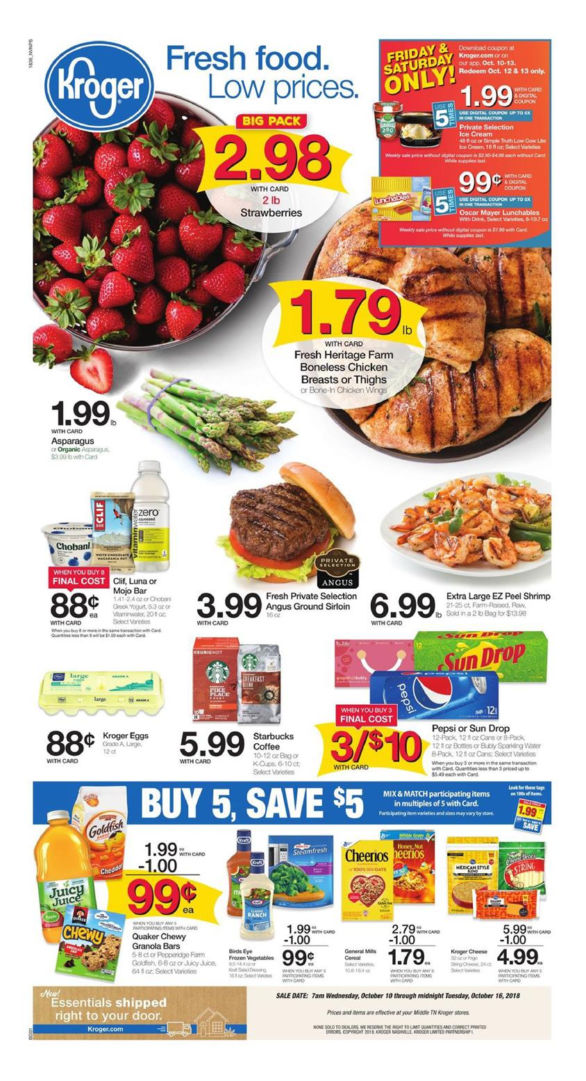 kroger weekly ad oct 10 2018