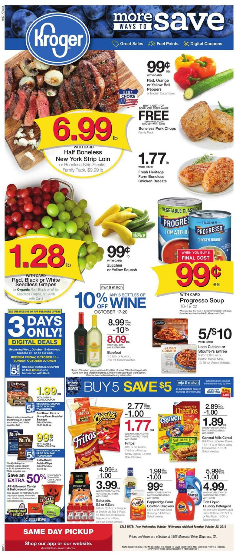 kroger weekly ad oct 16 2019
