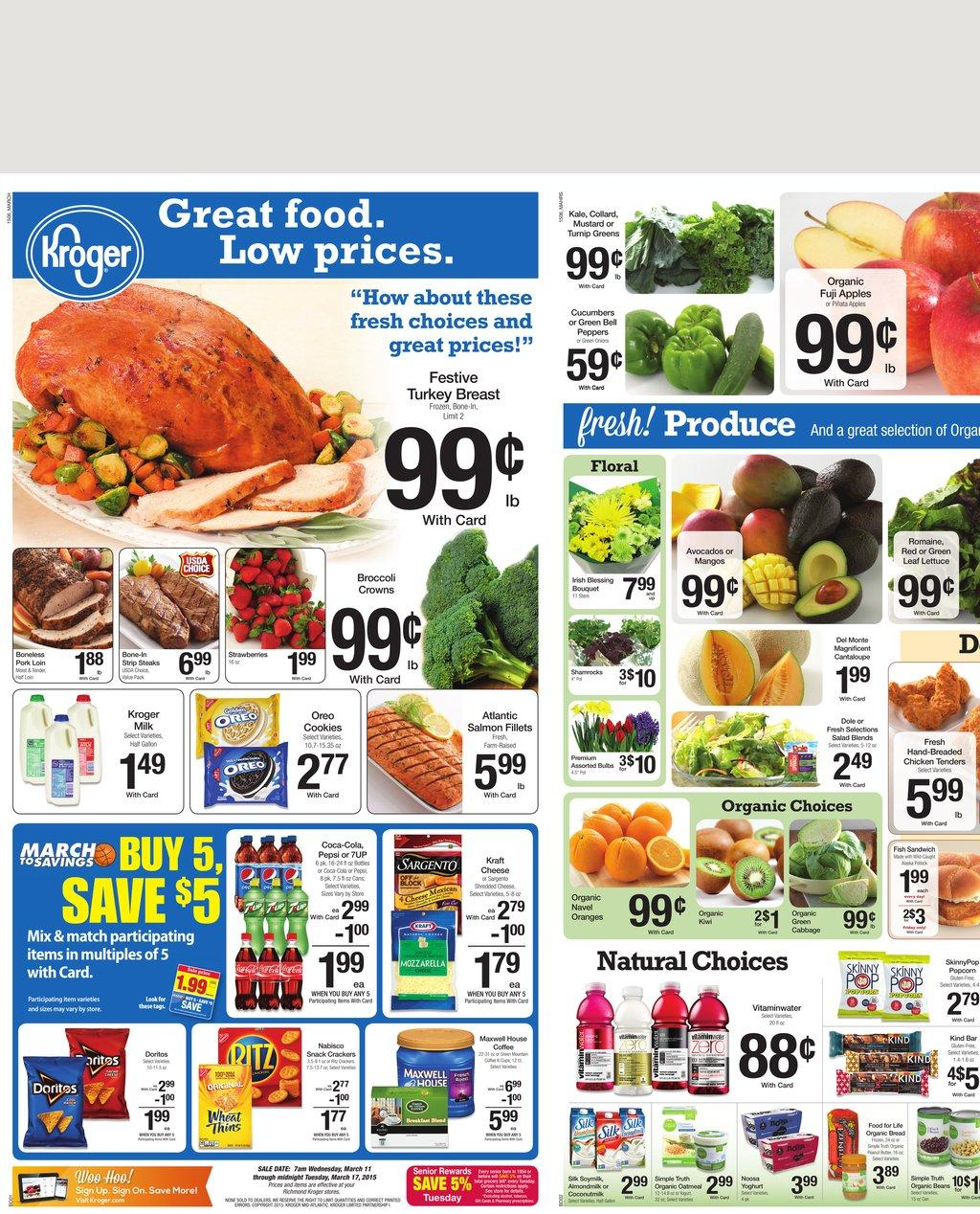 Kroger Weekly Ad Preview 3/11 2015