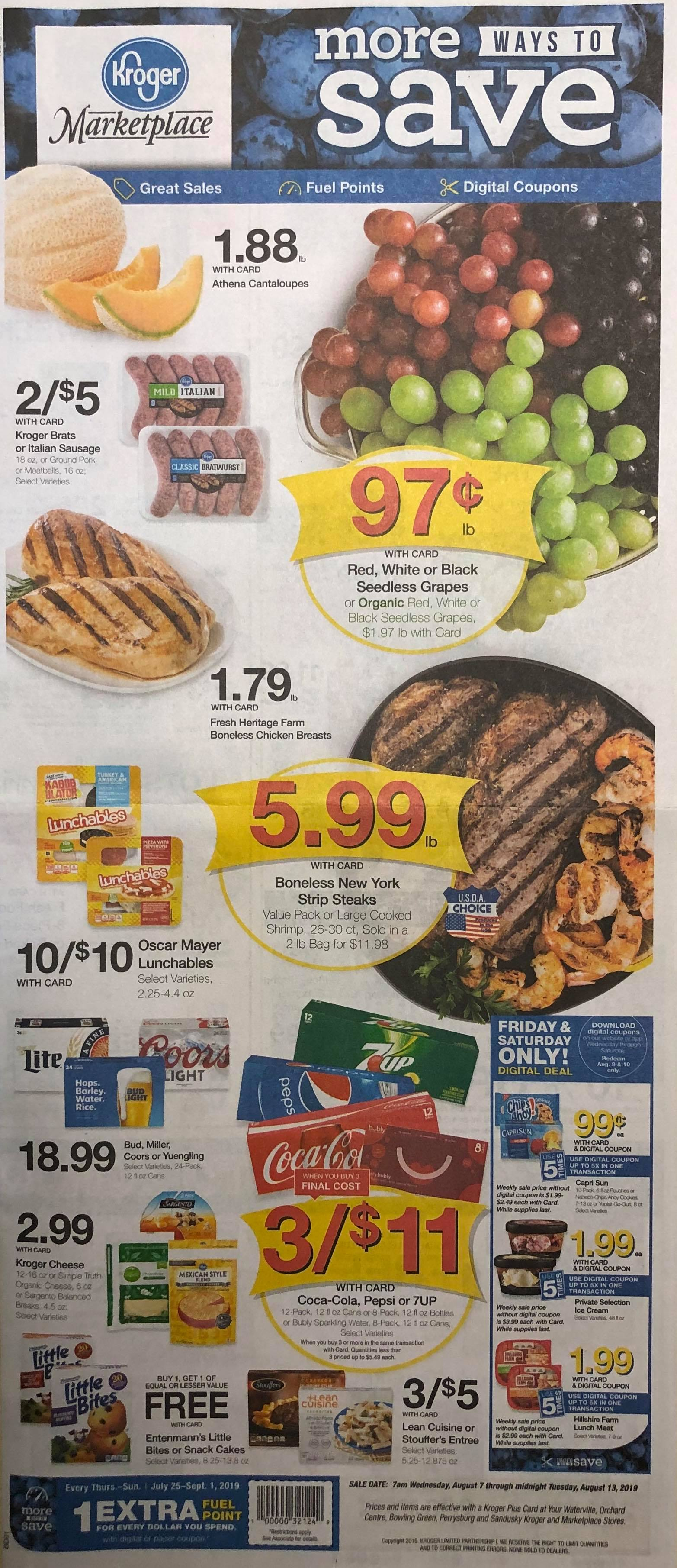 Kroger Weekly Ad Preview Aug 7 - 13, 2019