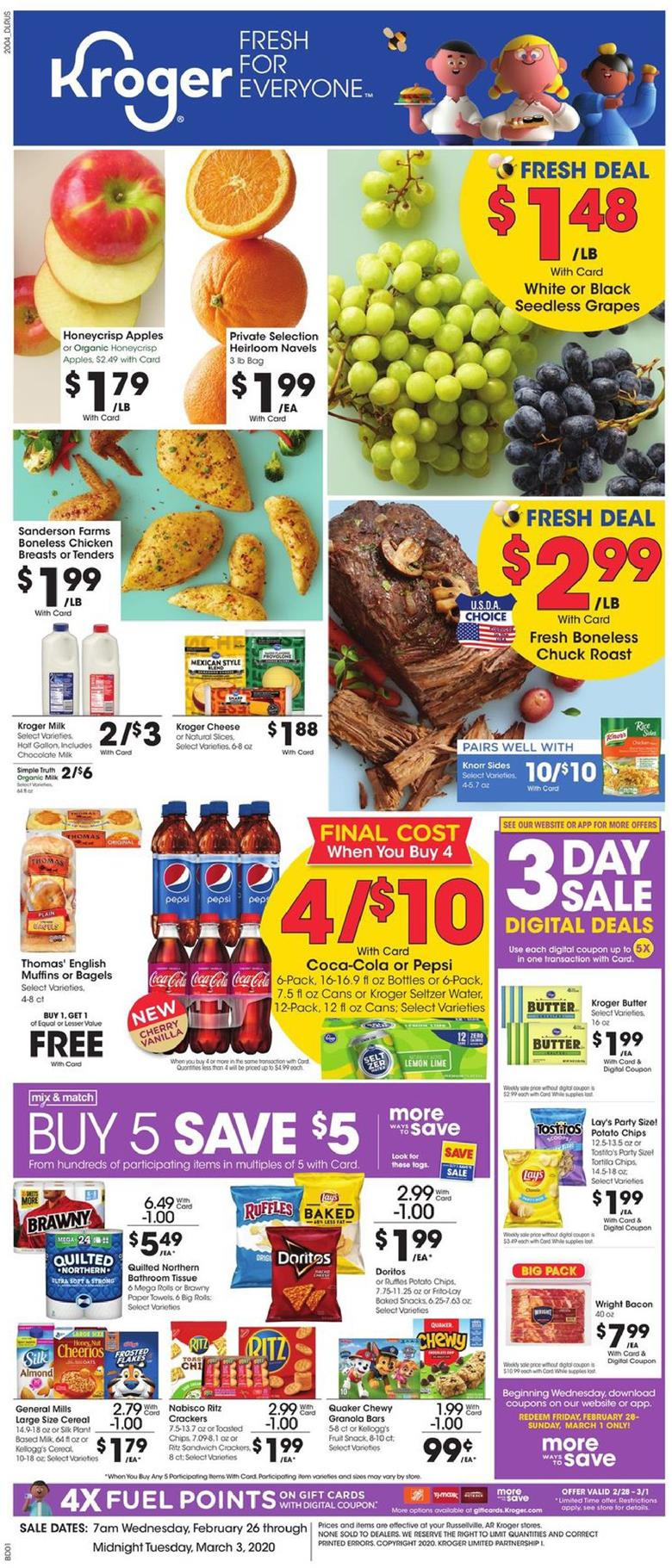 kroger weekly ad preview feb 26 2020