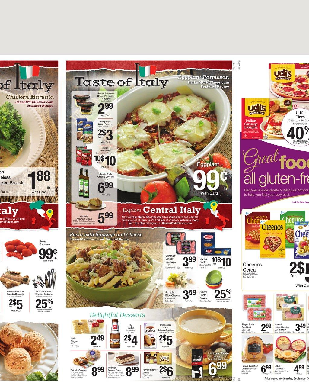 kroger weekly ad preview sep 30 2015