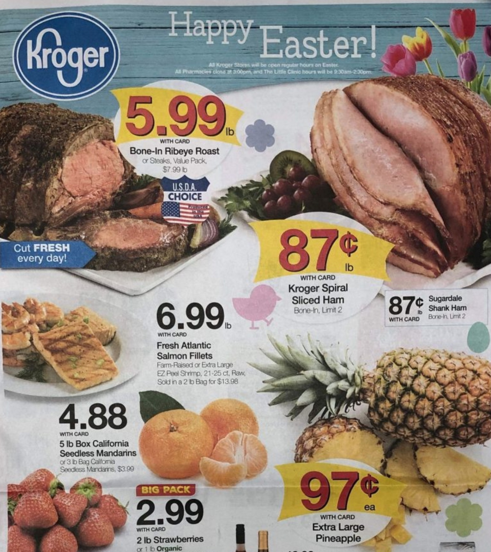 kroger weekly ad scan easter apr 17 2019