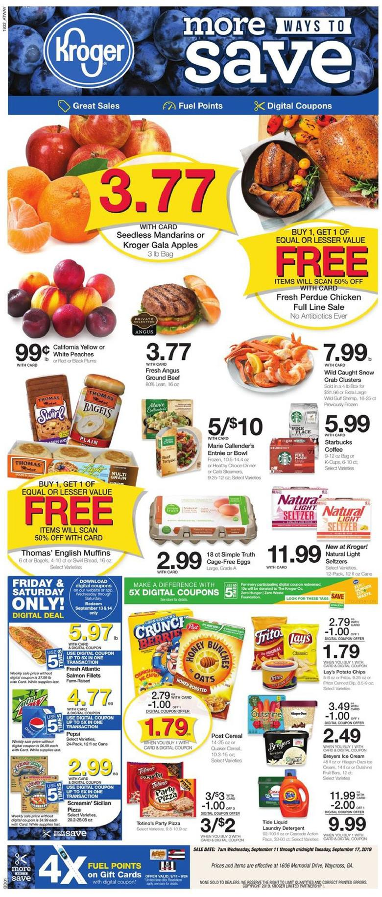 kroger weekly ad sep 11 2019