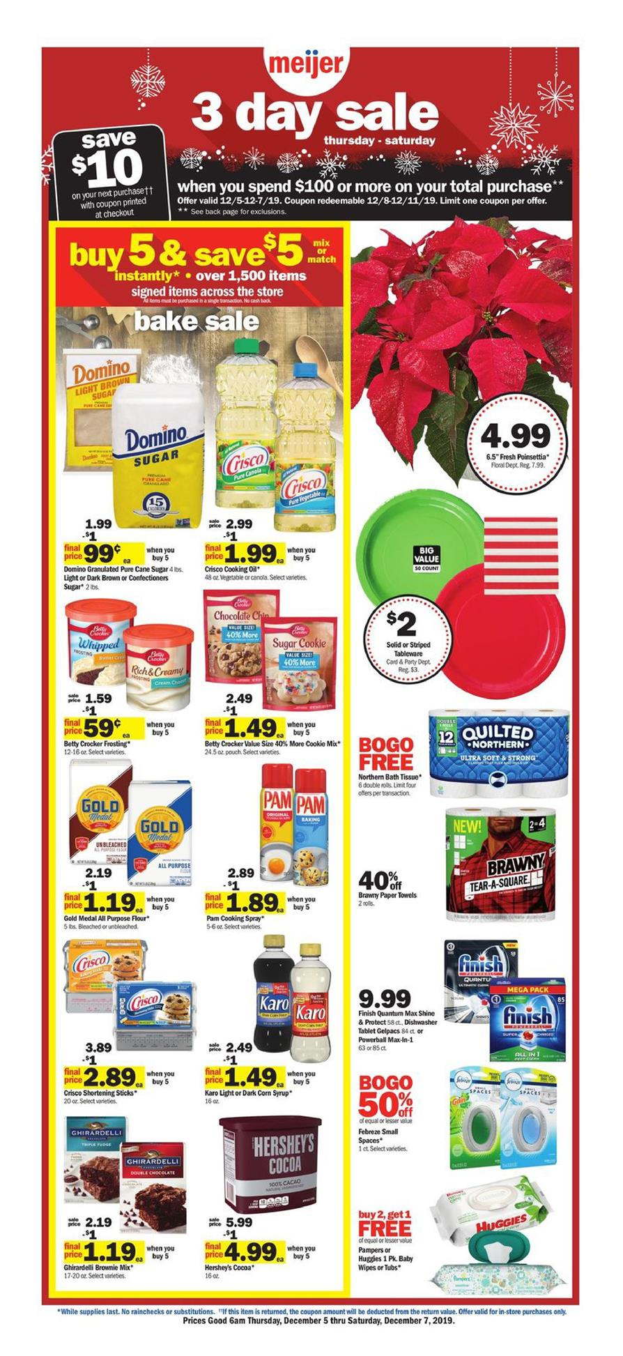 meijer ad 3 day sale dec 5 2019