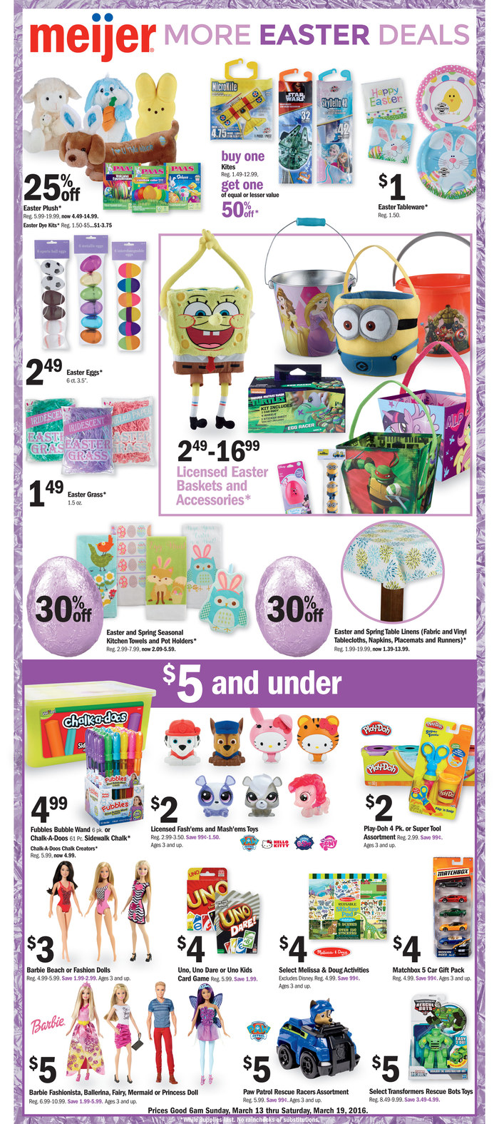 Meijer Ad Easter March 2016