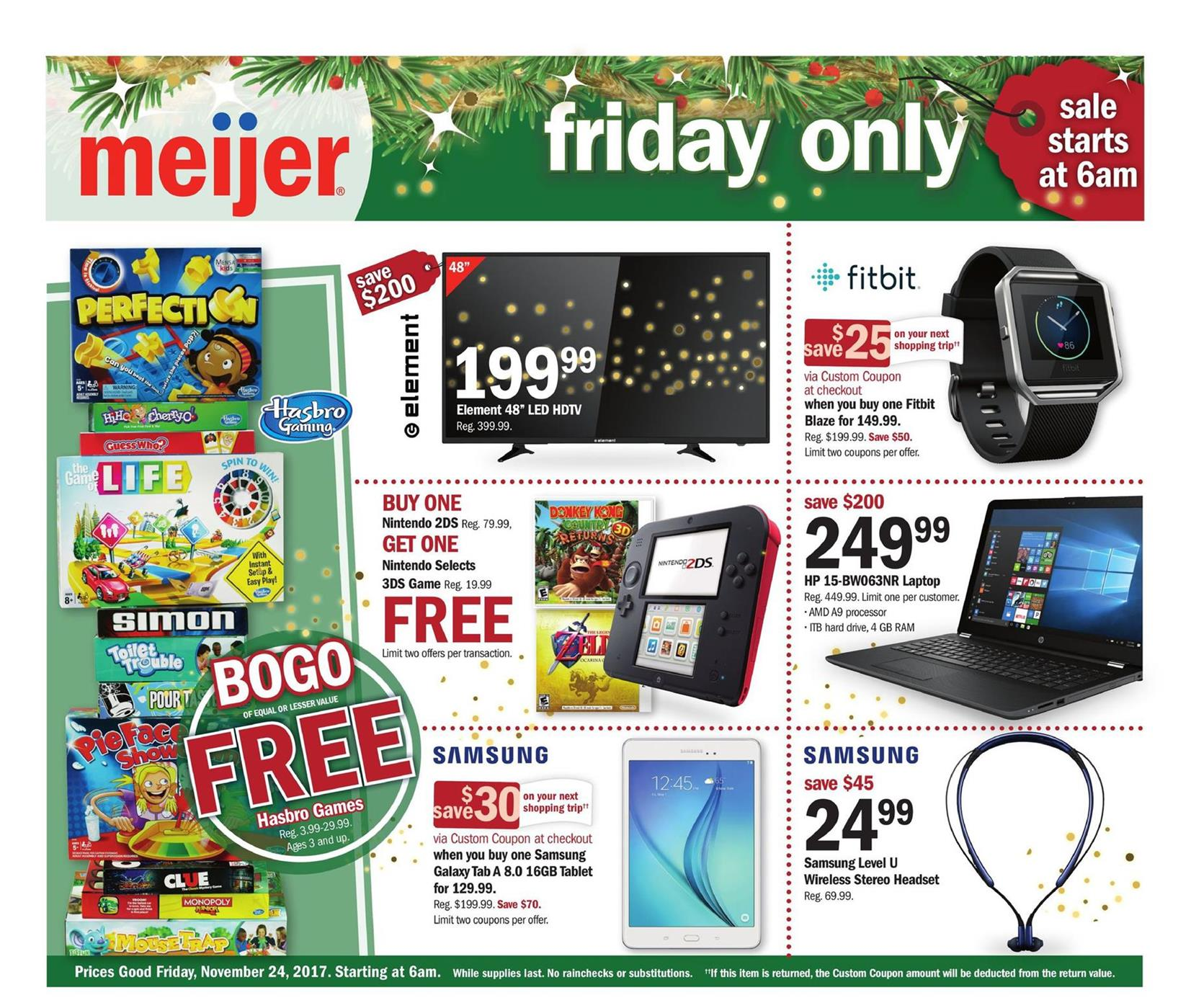 16eeabbcbb129 Meijer Black Friday Ad 2017