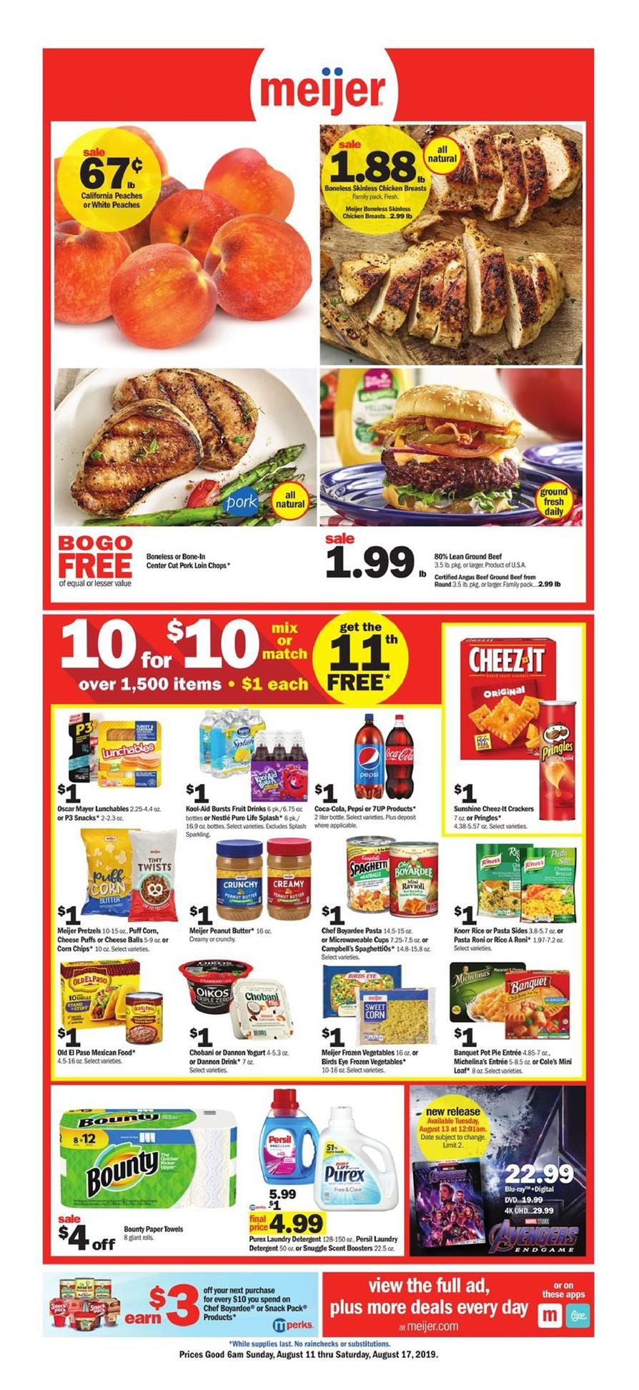 Meijer Weekly Ad Aug 11 - 17, 2019