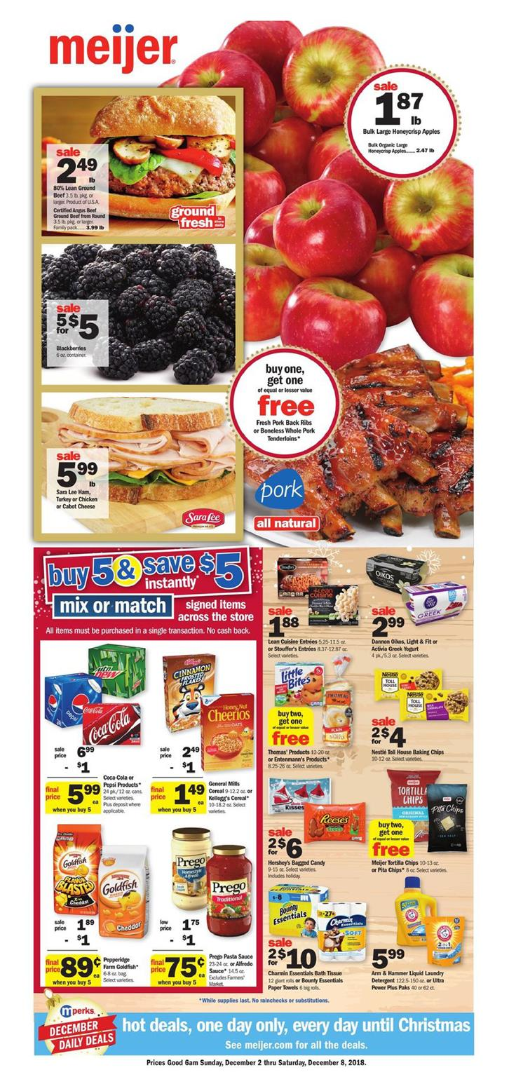 meijer weekly ad dec 2 2018