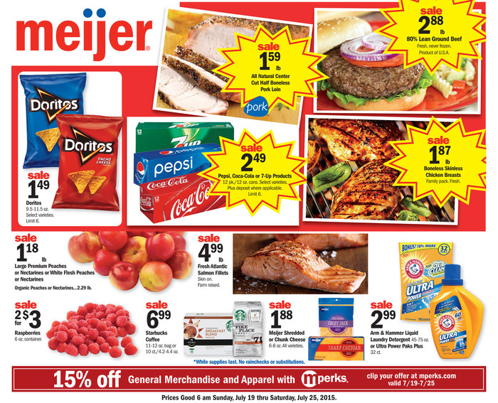 meijer weekly ad jul 19 jul 25 2015 school supplies