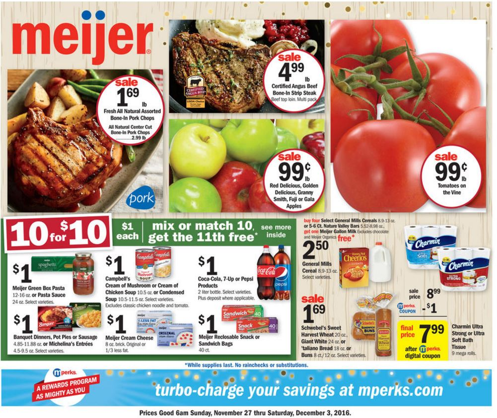Weekly Sales Circular >> Meijer Weekly Ad Nov 27 Dec 3 2016