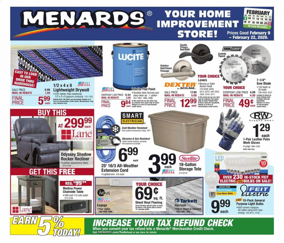 menards ad feb 9 22 2020