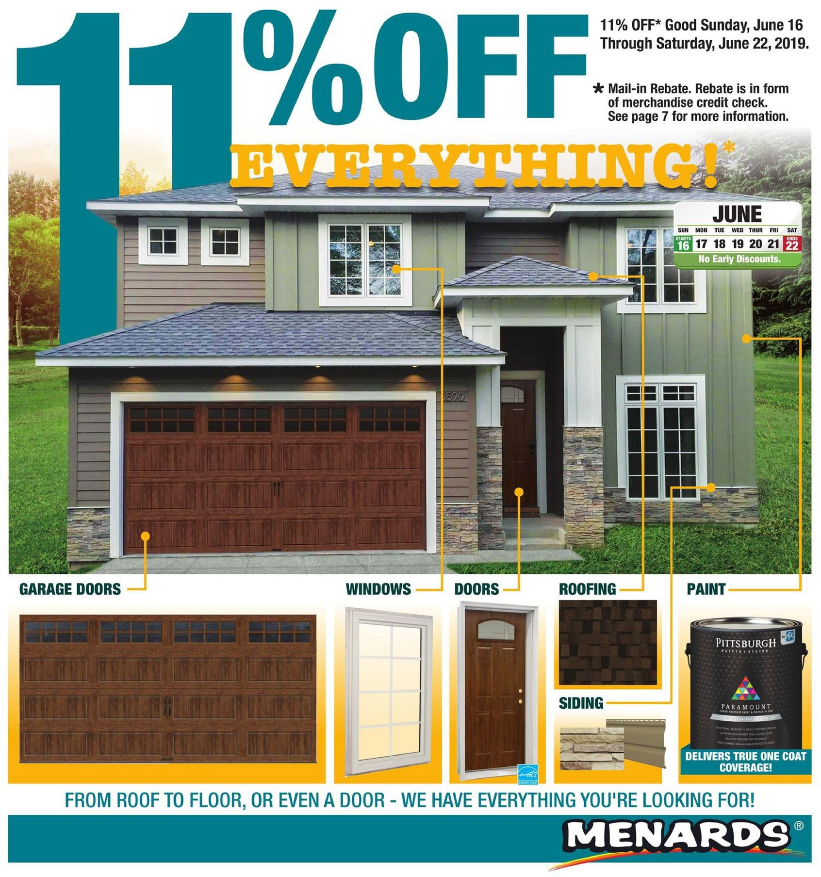 Menards Weekly Ad Jun 16 - 22, 2019