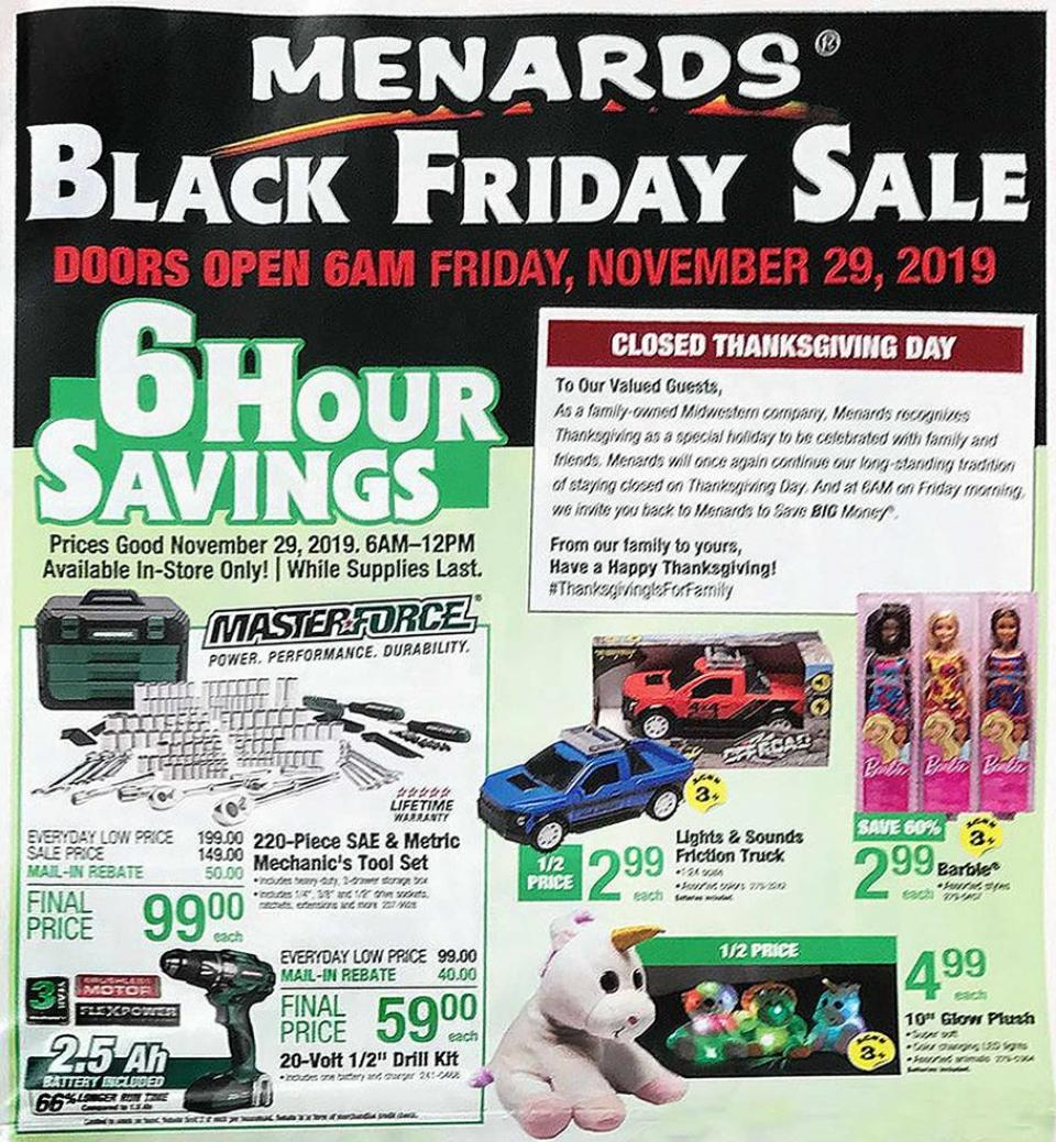 Menards black friday ad