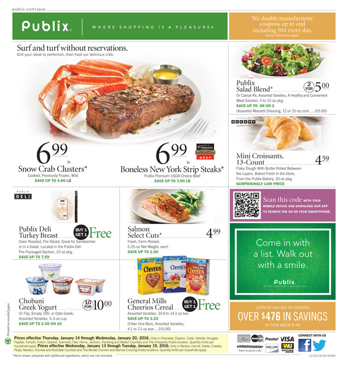 Publix Weekly Ad | Lobster House