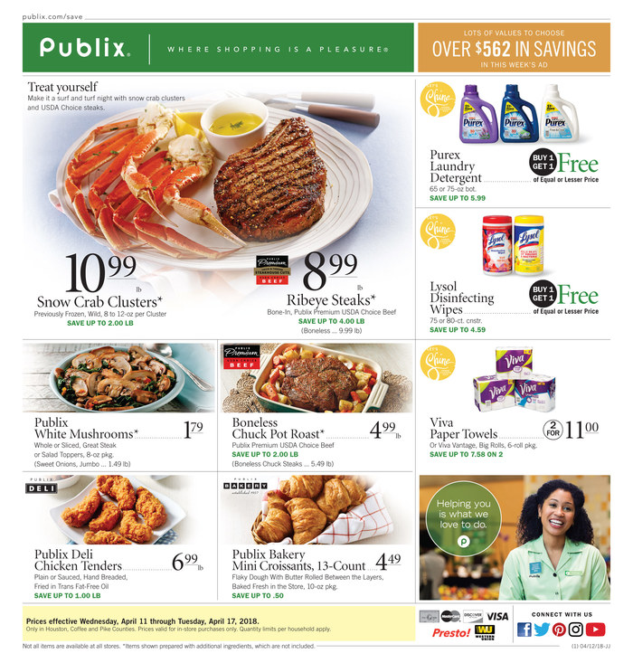 publix weekly ad april 11 2018