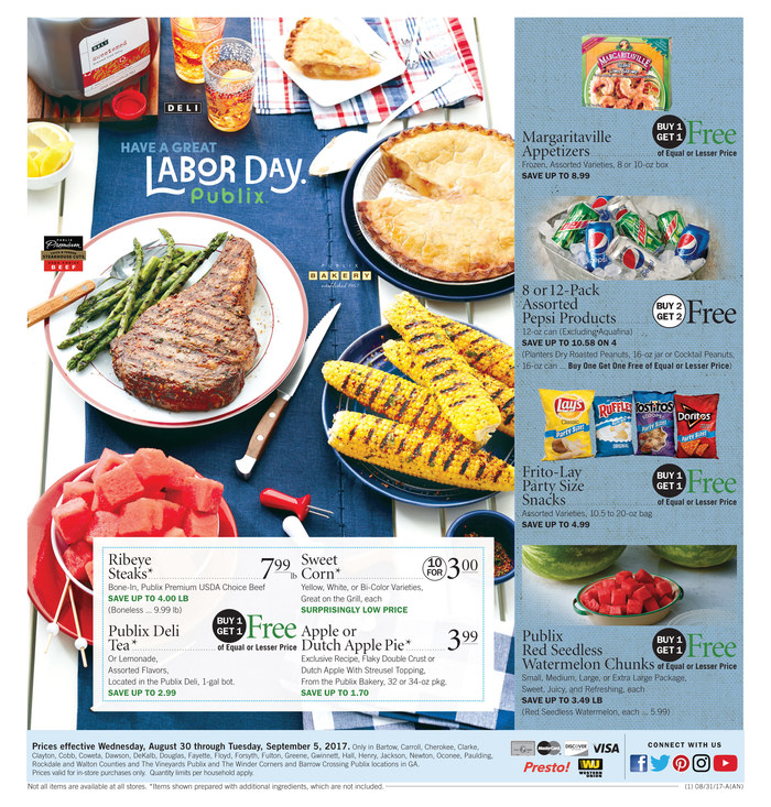 publix weekly ad aug 30 2017