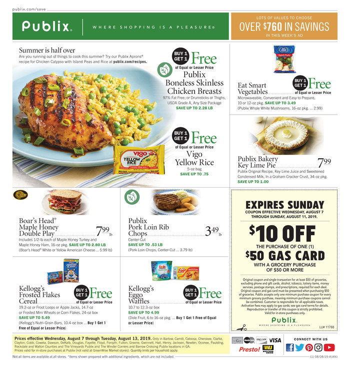 publix weekly ad aug 7 2019