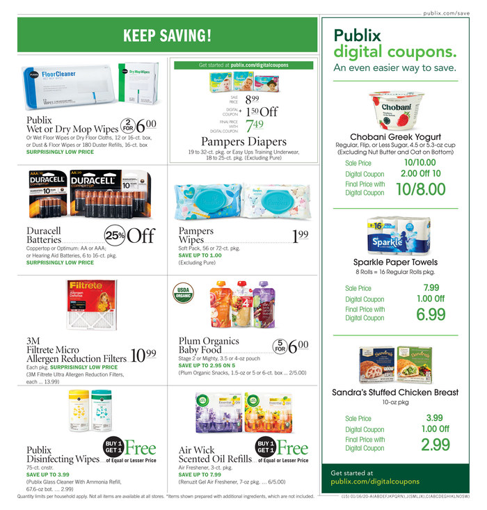 publix weekly ad jan 15 2020