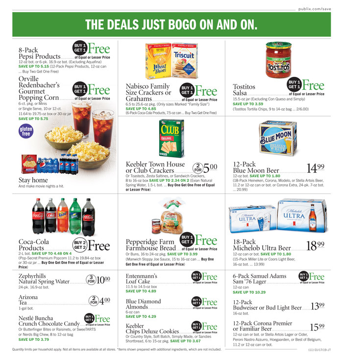 publix weekly ad jan 17 2019