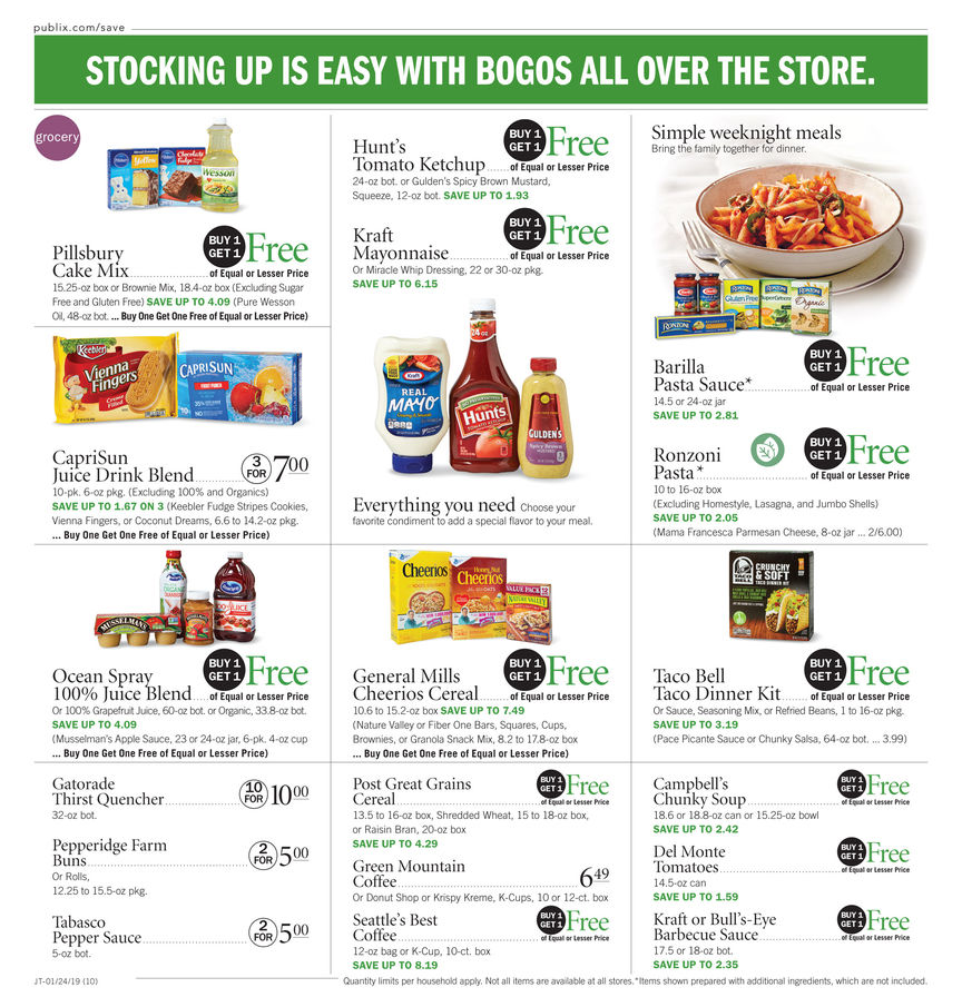 publix weekly ad jan 24 2019
