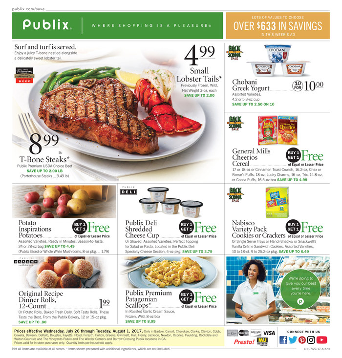 """Publix's slogan is """"Where Shopping is a Pleasure"""". Source: newlightish.tk If you are interested in knowing more about the company, its statements, products, and special offers or discounts, please visit newlightish.tk Latest Publix weekly ad, circular, specials and sales flyer. Preview the Publix sales ad coupons and grocery ad deals."""