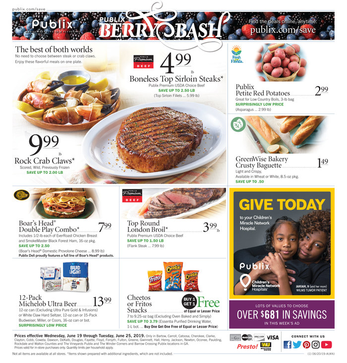 publix weekly ad jun 19 2019