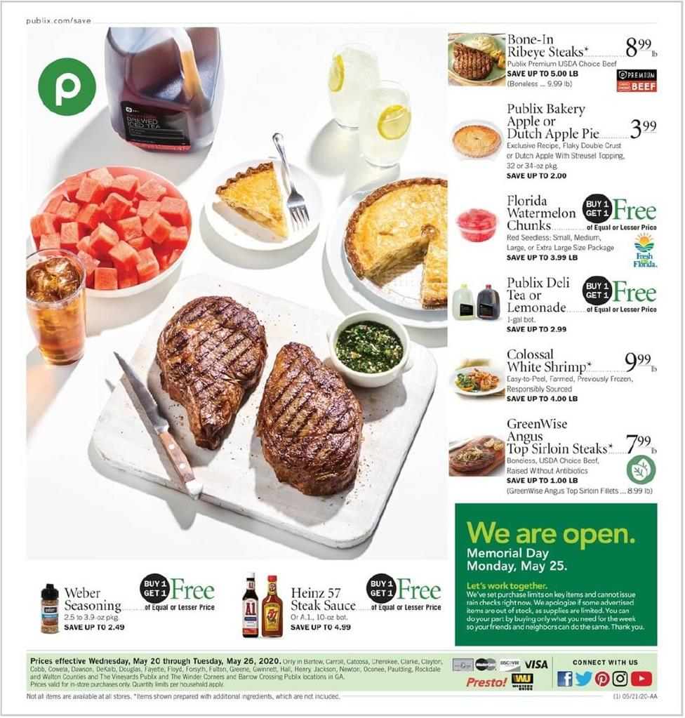 publix weekly ad may 20 2020