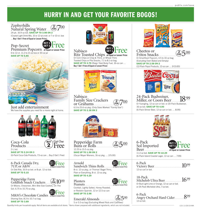 publix weekly ad nov 29 2019