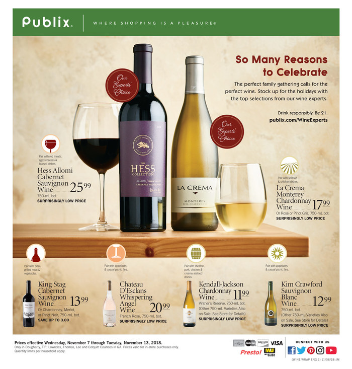 publix weekly ad nov 7 2018