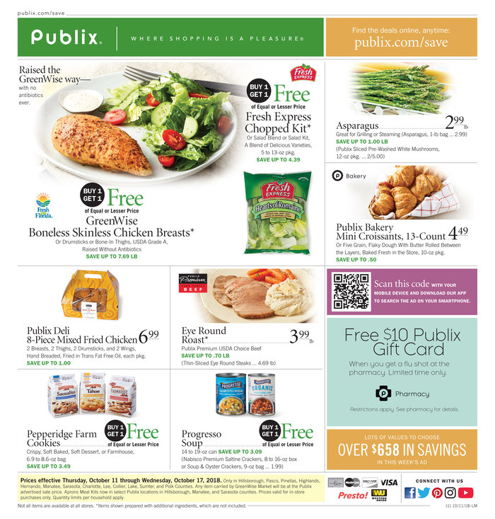 publix weekly ad oct 11 2018