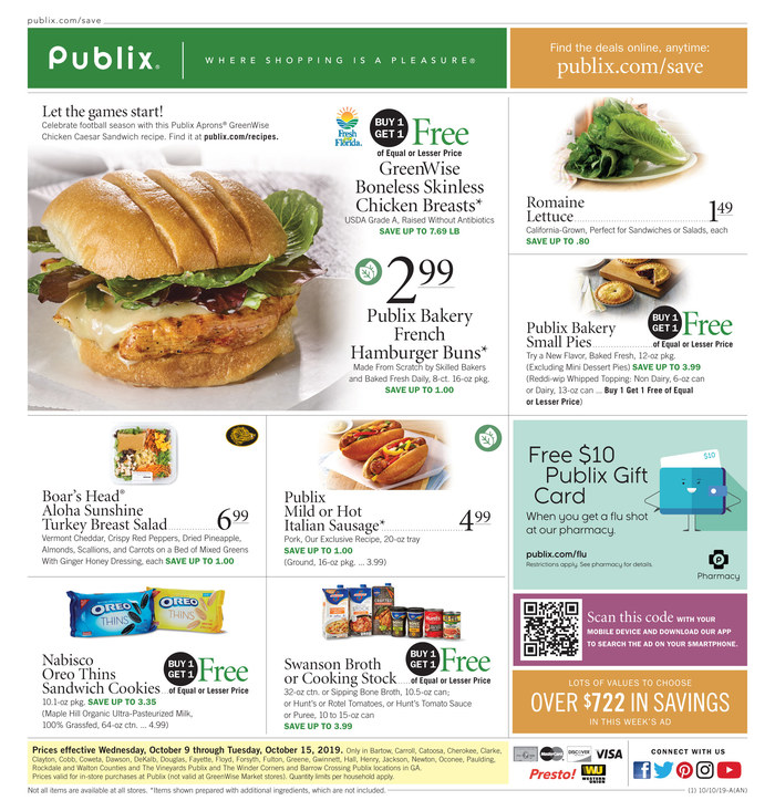 publix weekly ad oct 9 2019