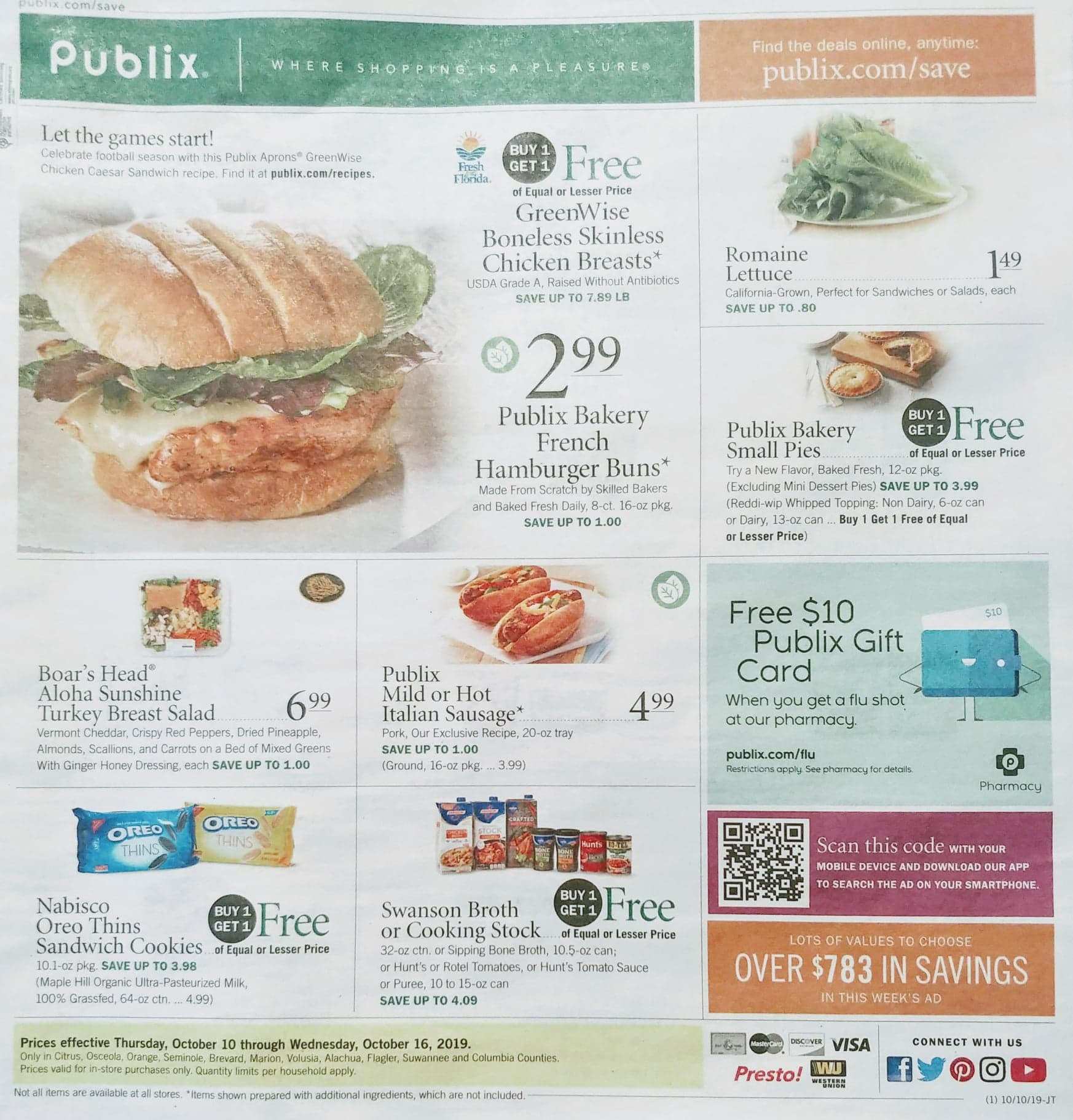publix weekly ad preview oct 10 2019