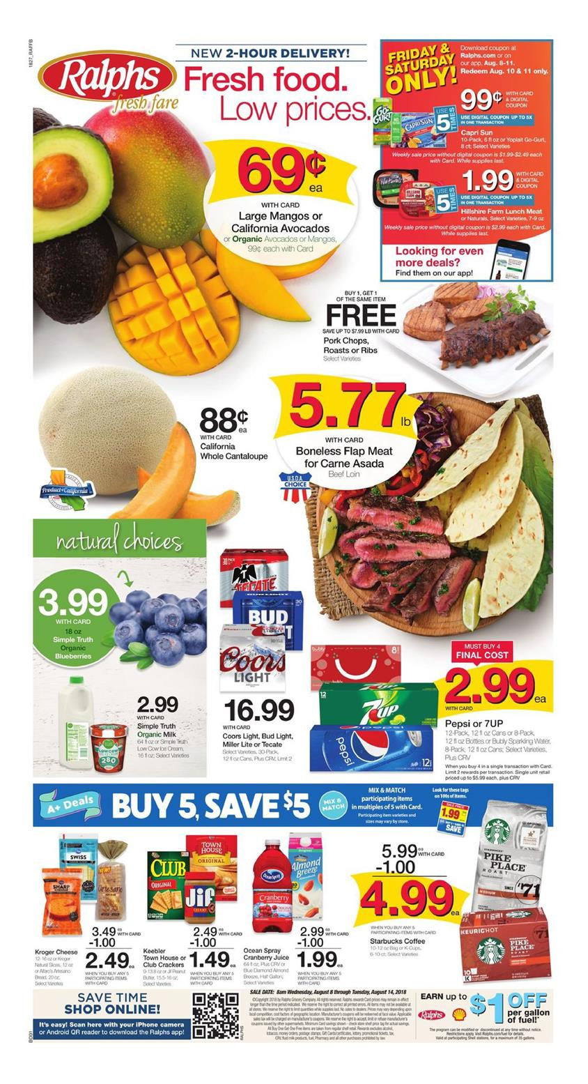 ralphs weekly ad aug 8 2018