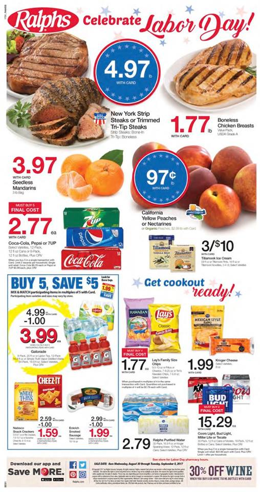ralphs weekly ad august 30 2017