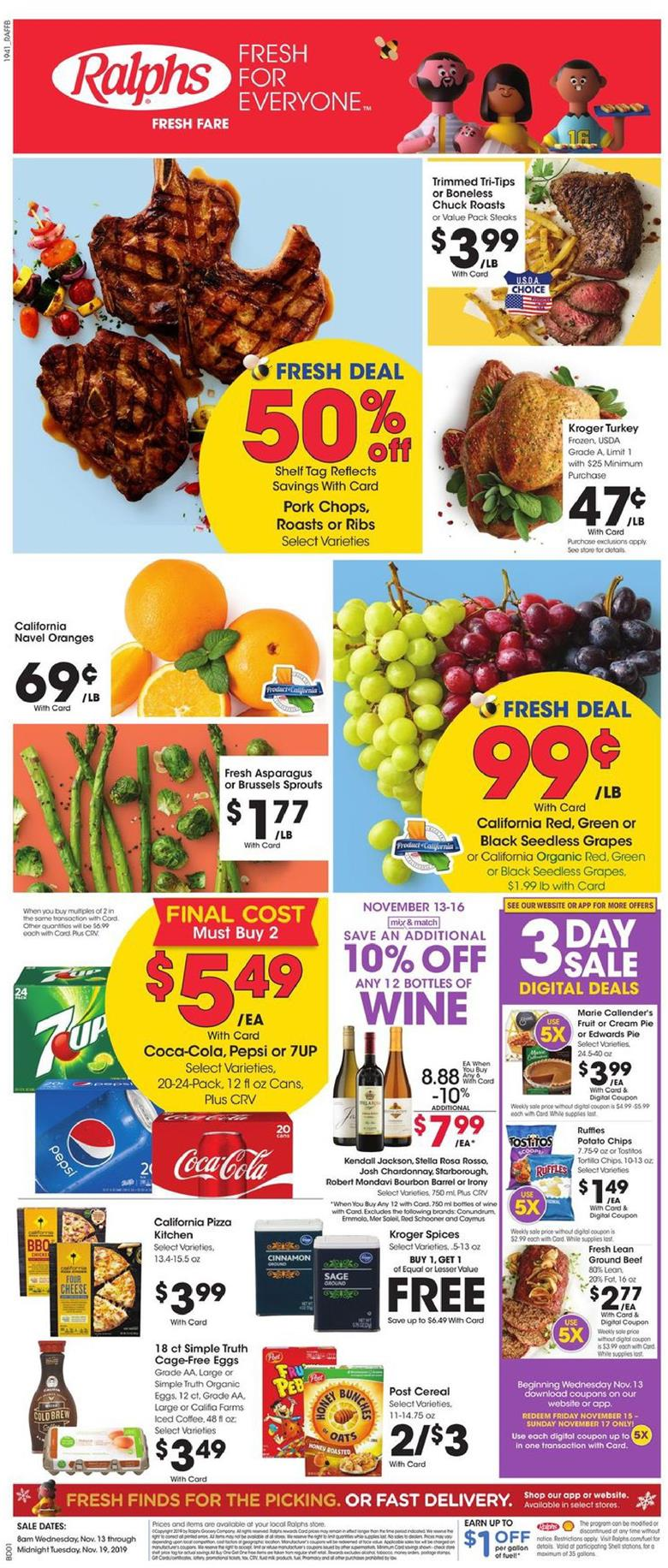 ralphs weekly ad nov 13 2019