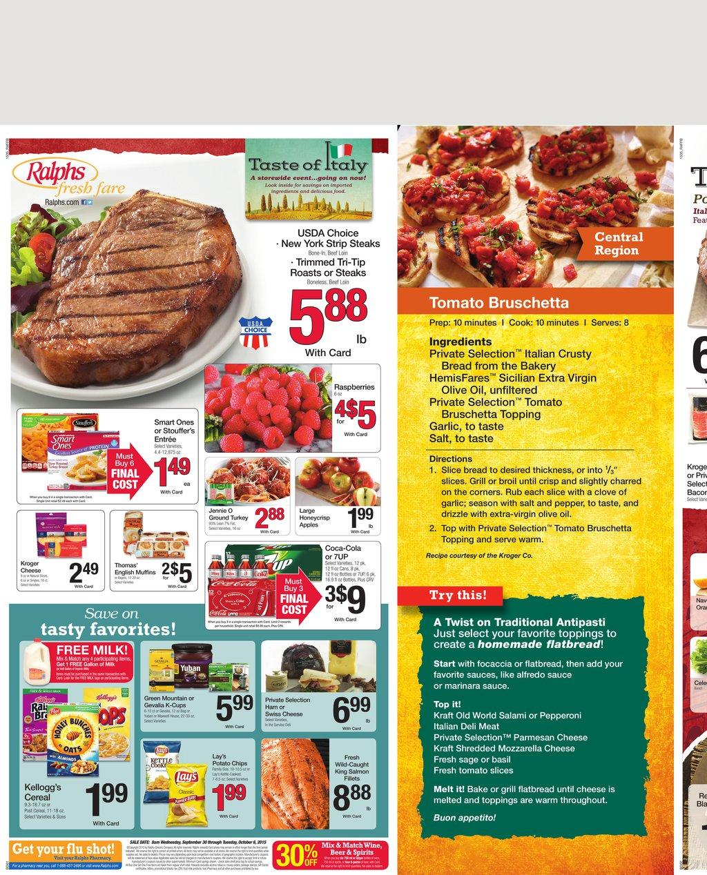 ralphs weekly ad sep 30 2015